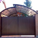 Галерея распашные ворота Щелково