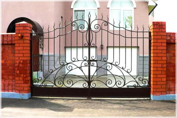 Ворота распашные своими руками чертежи фото и